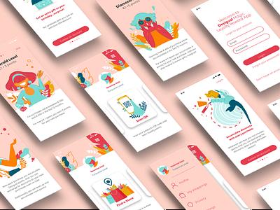 Desigual Magic Loyalty App Program - Screens onboarding screen ux illustrator ui vector flat illustration flat design design vector artwork illustration