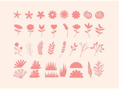 Icons Design - Floral Sunset Collection icons design icons pack icon set icons icon logo branding flowers nature design flat design flat illustration vector artwork illustration