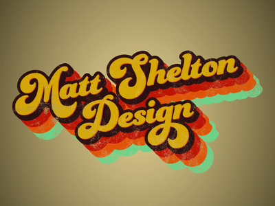 Matt Shelton Design typography branding vector illustration