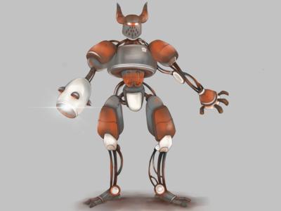 Robot sketch robot marchofrobots artwork character graphic procreate digital drawing illustration