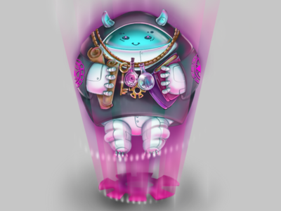 Occultist 😈 2dart robot marchofrobots artwork character procreate digital drawing illustration