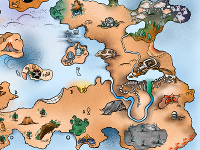 Treasure map artist work pirategraphic game design game art treasure map map pirate artwork procreate digital drawing illustration