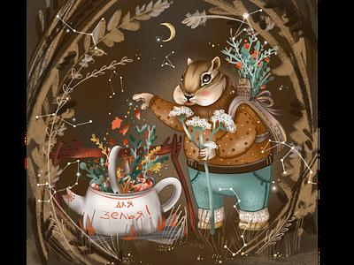 Magic Forest artist forest animal illustration art childrens illustration artwork graphic character procreate digital drawing illustration