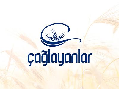 Çağlayanlar Un Fabrikası logo tasarımı buğday başak fabrika logosu un logo logo design logo tasarım