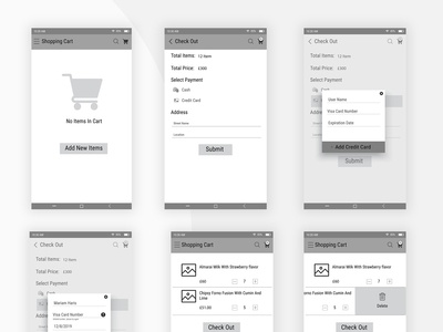 Cart wireframe