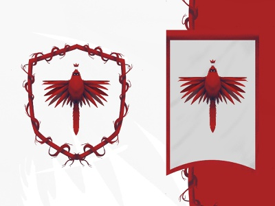 House Sigil bsds white walkers hbo thrones of game symbol icon crown feather wings illustration lockup crest flag red bird cardinal sigil game of thrones