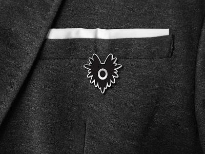 Strange Folks Pin character pro create ipad pro creature vector simple eye monster design branding strange folks illustration icon pin badge application identity logo brand mr mockup