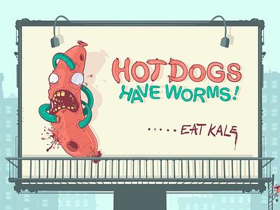 PSA mockup sign city alien worms ipad pro ted pioli character creature design artwork branding strange folks monster pro create art food illustration monsters hot dogs