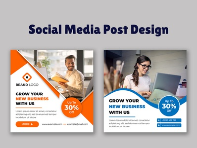 Business promotion banner for social media