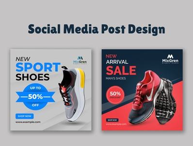 Products promotion banner design