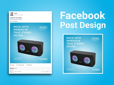 Products ads design for facebook