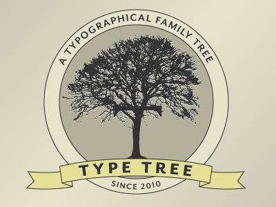 Logo logo typography tan yellow typetree