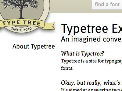 About Typetree typetree typography brown