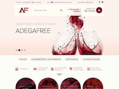 Adegafree ecommerce magento wine shopping drinks