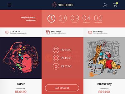 Printerama - Header countdown header ui ux magento tshirts bleez e-commerce ecommerce