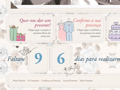 Footer - Ricardo and Mari Wedding - Bleez Agência Digital