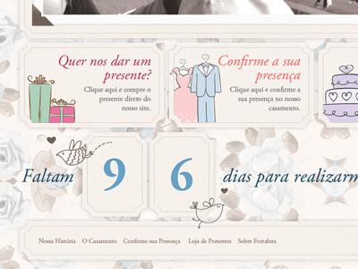 Footer - Ricardo and Mari Wedding - Bleez Agência Digital ecommerce footer wedding flowers magento bleez fortaleza brazil countdown