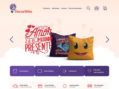 Deu Na Telha - E-commerce bleez comics tshirt webdesign ux e-commerce ecommerce