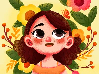 Little Girl app girl illustrations web ui design illustration