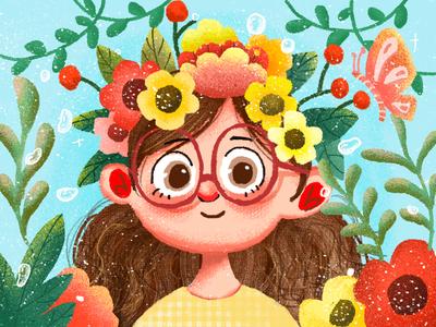 summer ui app girl illustrations design illustration
