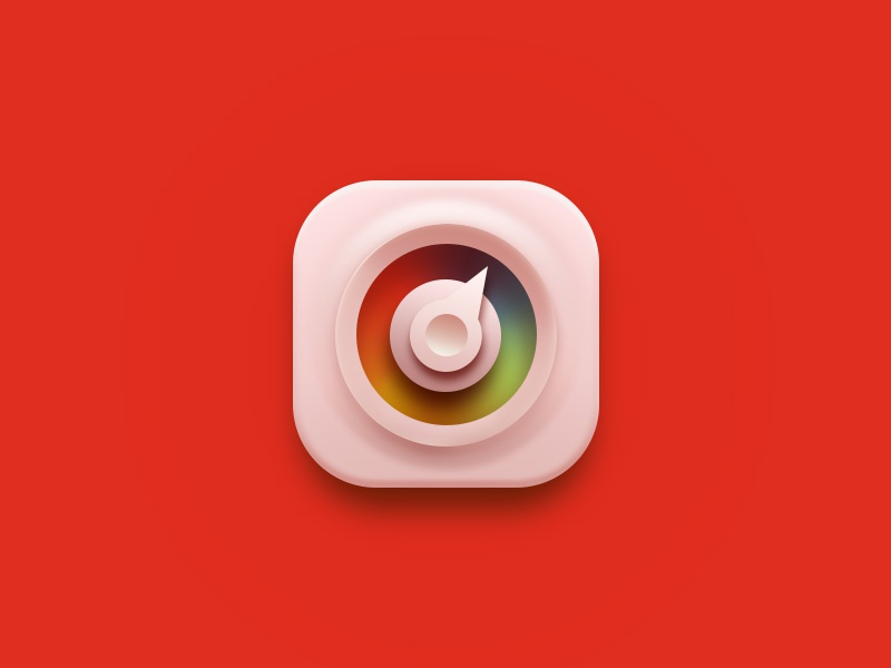 red ux web logo illustration ui icon design app