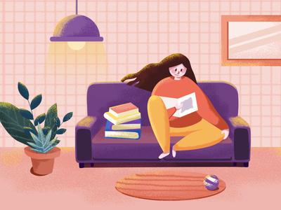 Reading plate web illustration app ui design