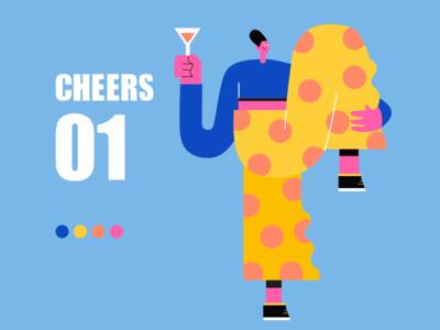 Cheers! app web ui illustration design