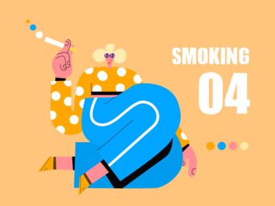 smoking ux app web icon ui design illustration