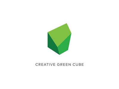 Creative Green Cube ui 3d iconic green cube brand icongraphy design icon vector logodesign branding logo graphic design