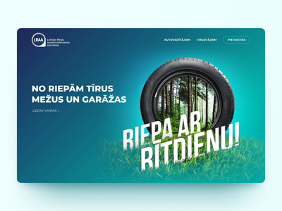 Riepa ar Rītdienu • WEB parallax car ecology recycle apple motion figma animation website ui design web