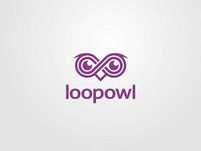 Loopowl logo owl vector design