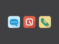 Flat Pixel Icons