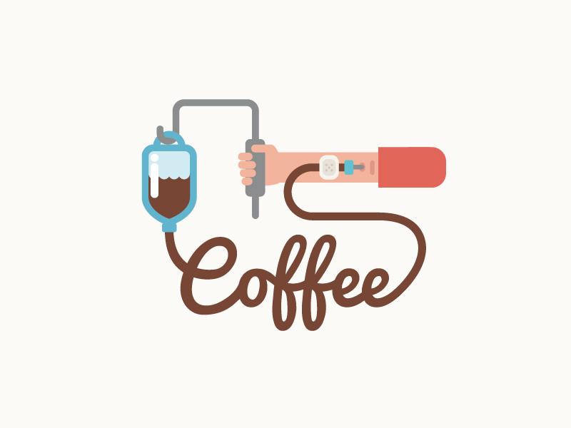 Coffee coffee addiction needle vector caffein illustration hand hospital infusion
