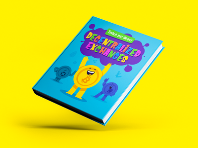 DEX for Kids vector dee funny kids book transactions money zrx ethereum bitcoin blockchain coins crypto dex