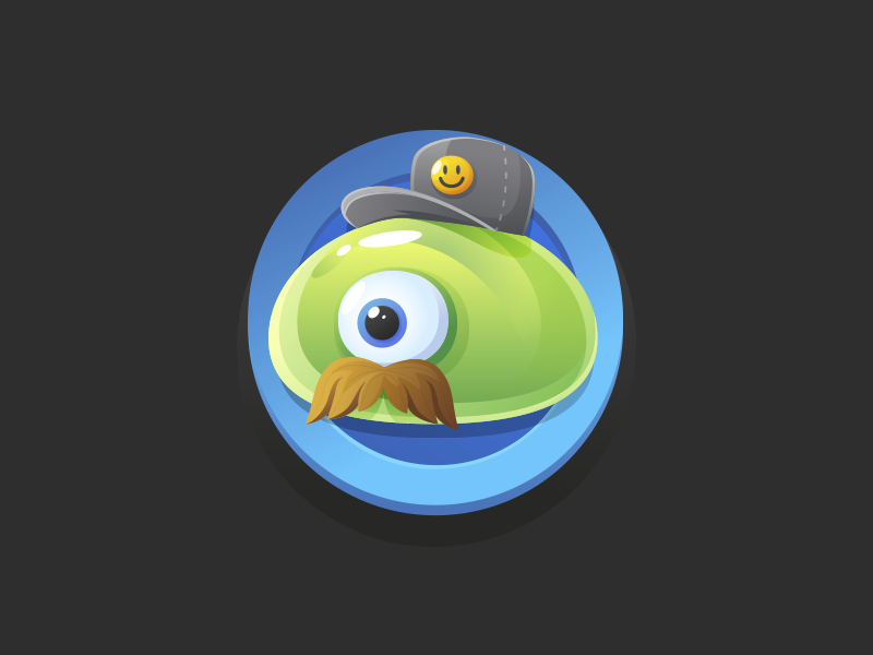 Major Blob blob game ios monster funny vector cartoon moustache green smiley jelly shiny