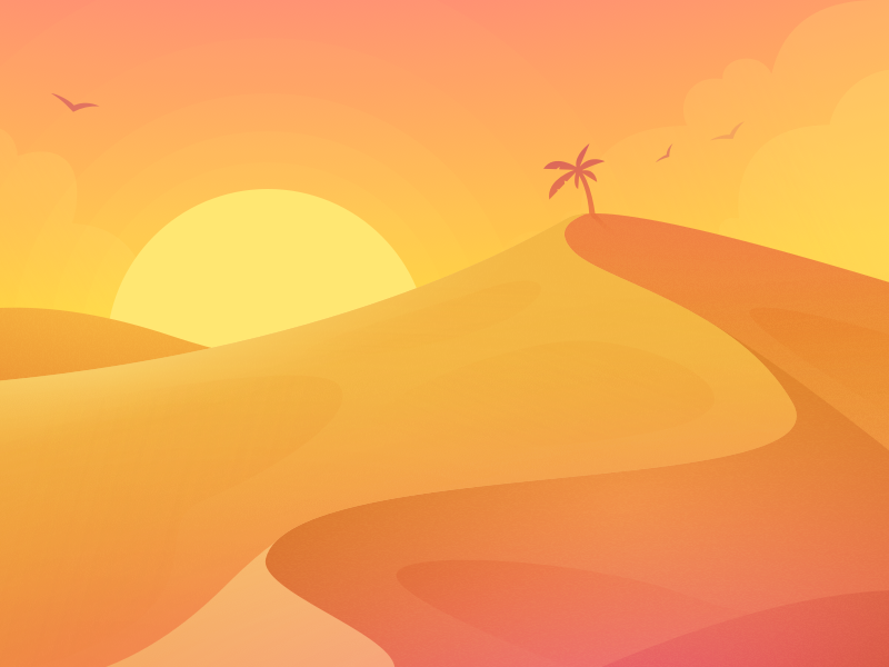 Desert dribbble
