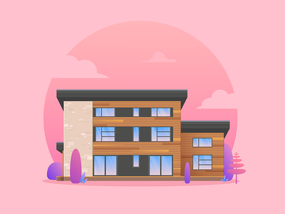 Waterfront house waterfront house architecture illustrator vector