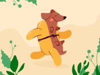 Running hotdog