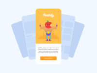 health app design ux ui mockup iphonex apple vector flat character lifestyle eating weightloss healthy fruits and vegetables online fruits healthcare health ios app