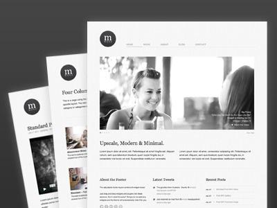 Cudazi Mono - Free WordPress Theme free freebie wordpress theme website minimal modern clean