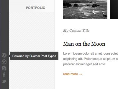 Social Links using WordPress Custom Post Types ui wordpress social icons tooltip web design