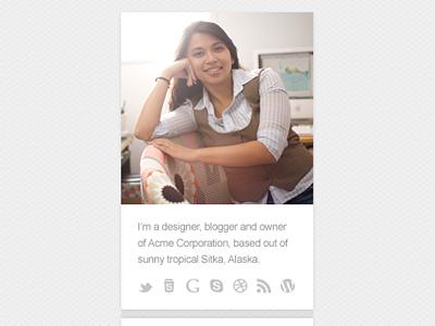 Custom Bio / About Me Widget bio sidebar widget about