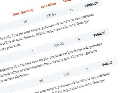 PancakeApp Invoice Design invoice bill price