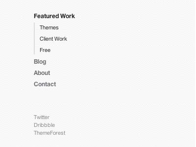 Clean, Simple Navigation navigation menu clean minimal texture
