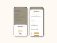 An app for recording short speeches to inspire each other