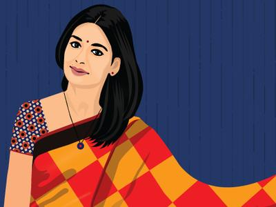 Nandita Das - Potrait Illustration