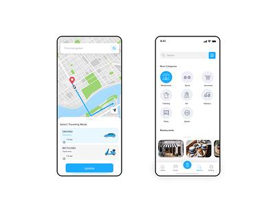 GPS Driving Route App UI design sakthi tm sakthi driving app app design app