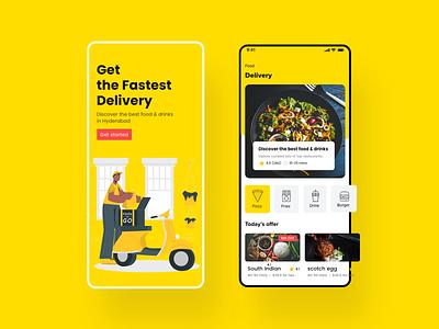Food app UI design sakthi sakthi tm sakthi ™ mobile app mobile food food illustration food and drink food delivery food app food