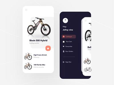 Bicycle App UI design sakthi sakthi tm sakthi ™ mobile app mobile ui bike app bike ride bicycle app bicycle shop