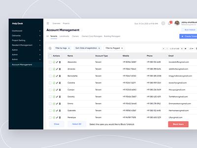 Dashboard - Account Management sakthi sakthi tm sakthi ™ uiux help desk dashboard dashboard template dashboard design dashboard ui dashboard